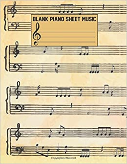 Blank Piano Sheet Music Composition Book Blank Staff Paper Large