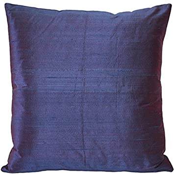 PILLOW D COR Sankara Purple Silk Throw Pillow 16×16