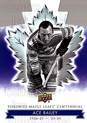 - (CI) Ace Bailey Hockey Card 2017-18 Toronto Maple Leafs Centennial Die Cut 2 Ace Bailey