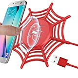 GreatCool Anti-Slip Spider Net Wireless Charger,10W Fast Wireless Charging Pad Stand for iPhone X/8/8 Plus Samsung Galaxy S9/S9 Plus Note 8/5 S8/S8 Plus S7/S7 Edge S6 Edge Plus (Red)