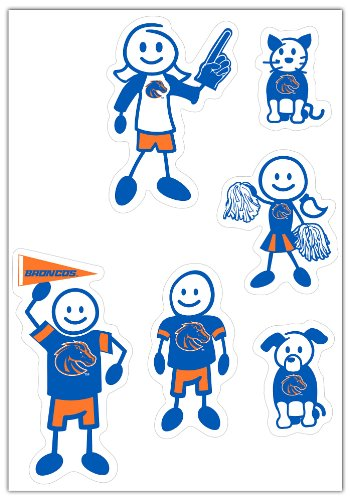 NCAA Boise State Broncos Small Family Decal (Broncos Family Decal)