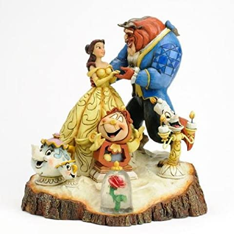 Disney Tradition Beauty and the Beast Tale as Old as Time [parallel import goods] Enesco wood carving-like figure Jim Shore (japan (Disney Traditions Beast)