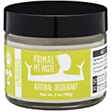 PRIMAL PIT PASTE All Natural Lemongrass Deodorant | 2 Ounce Jar | NO Aluminum, NO Parabens | For Women and Men of All Ages | Non-GMO, Cruelty Free, Earth Friendly, BPA Free