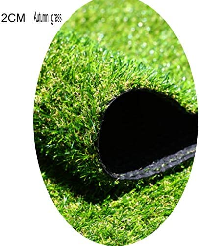 YNFNGXU 庭合成芝生20ミリメートルパイル高快適ソフト屋外屋根グラスカーペット装飾2×1メートル (Size : 2x1.5m)
