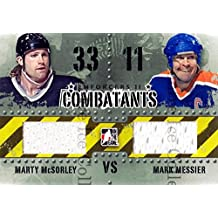Marty McSorley, Mark Messier Hockey Card 2013-14 ITG Enforcers Combatants Jersey #33 Marty McSorley, Mark Messier