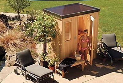 Finlandia Outdoor Sauna With Starline Skylight Roof