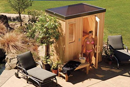 Finlandia Outdoor Sauna 6' x 8' With Starline Skylight Roof