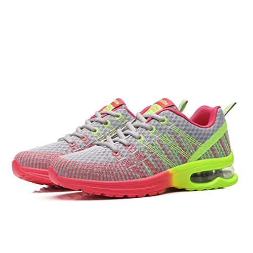 Jiyaru Women Athletic Shoes Breathable Mesh Sneakers Running Sports Shoes Grey rlOWn1Rx5