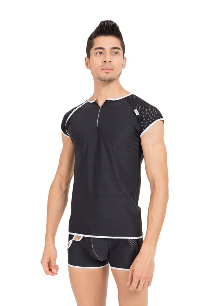 Look Me - T-Shirt Mixing - Farbe: weiss - Größe: M, 1 Stück 1 Stück LM43-77WHT-M