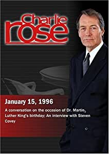 Charlie Rose with Jewell Jackson McCabe, Hugh Prince, Al Sharpton & Armstrong Williams; Steven Covey (January 15, 1996)