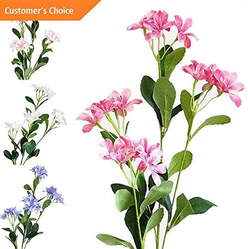 Hebel 1Pc 4 Heads Artificial Violet Silk Flower DIY Garden Wedding Party Home Decor AF | Model ARTFCL - 107 |]()