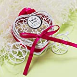 Dirance Romantic Pumpkin car Wedding Wrought Iron Candy Box Sweet Love Wedding Decoration Wholesale Sale Below $5 (1, Hot Pink)
