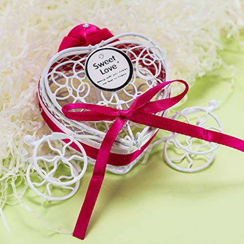 ViShow Romantic Carriage Sweets Chocolate Box for Party Wedding Favor Ribbon Candy Gift Box
