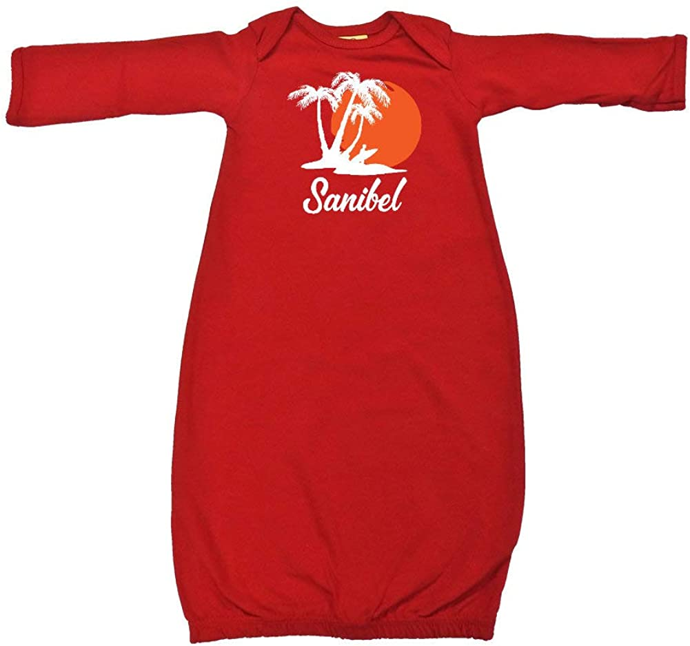 Sanibel Florida Beach Sunset Surfer Baby Cotton Sleeper Gown