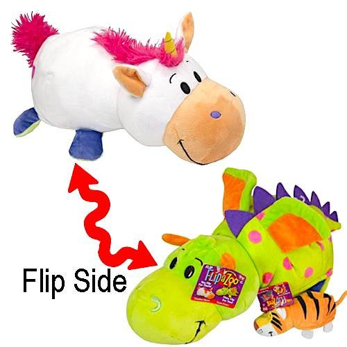 Flip A Zoo 14 Unicorn to Dragon Plush Flipazoo with 5 Bonus Elephant to Tiger Flipzee