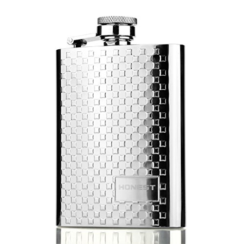 Stainless Steel Hip Flask, Ezeso 4oz Portable Engraved Flagon Outdoor With Funnel For Tourism,Camping
