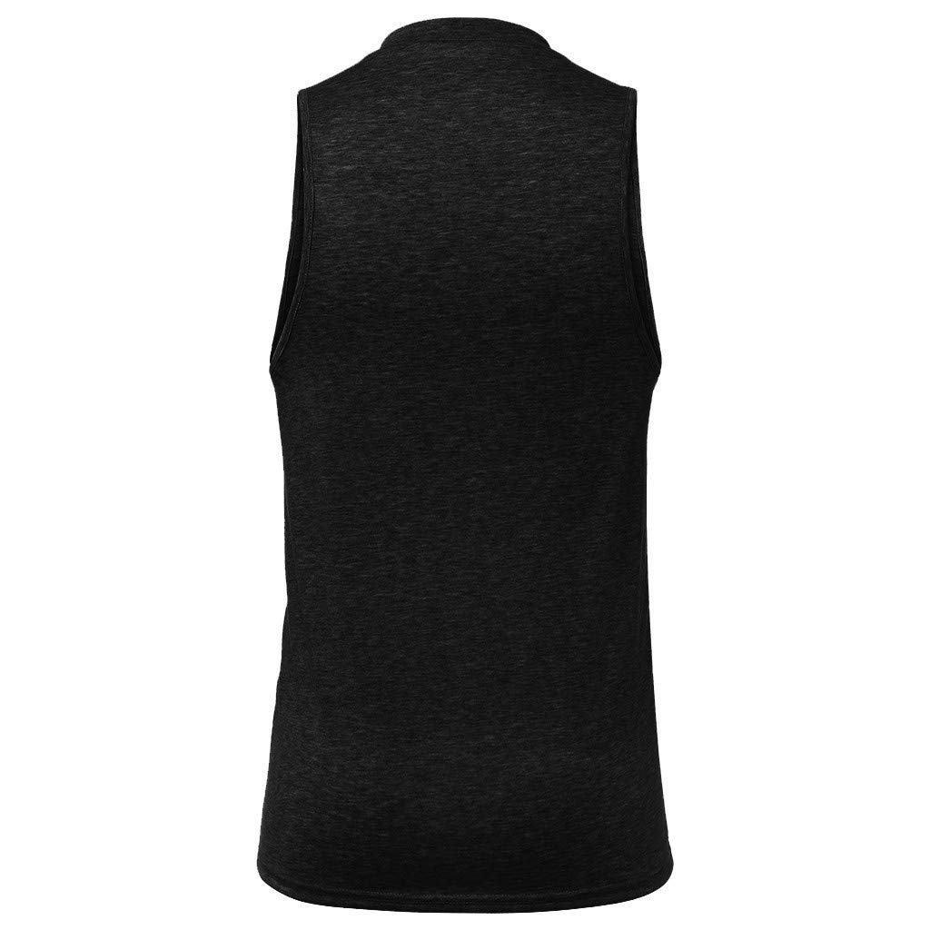 Fashion! Mens New Star Printed Vest for Simple Fashionable Sports Fitness Vest for Summer