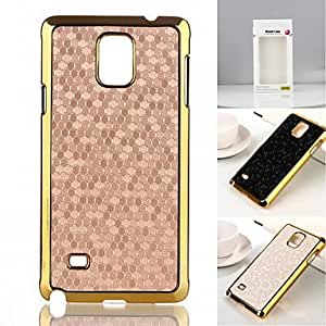 YULIN luxury Sparkle Glam Golden Plated Plastic Hard Back case for Samsung Galaxy Note4 N9100 (Assorted Colors) , Silver