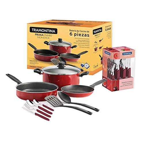 Bateria de Cocina Primaware 22 pzs Roja 32200/233 Tramontin