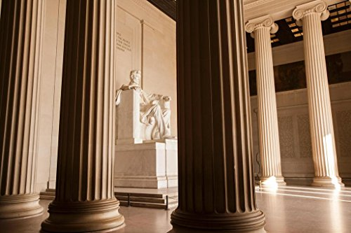Abraham Lincoln Memorial From Behind Columns Photo Art Print Poster 36x24 (Lincoln Memorial Photo)