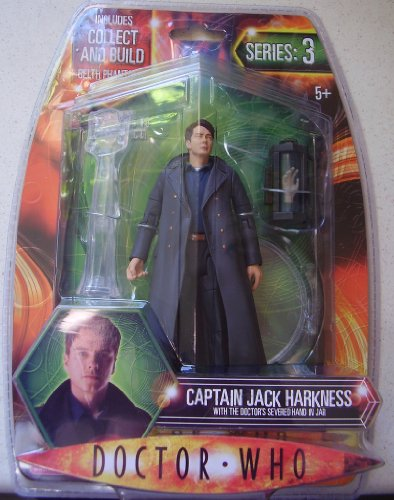 Doctor Who Series 3 Captain Jack Harkness Action Figure with the Doctor's Severed Hand in Jar (Includes Collect and Build Gelth Phantoms Part)
