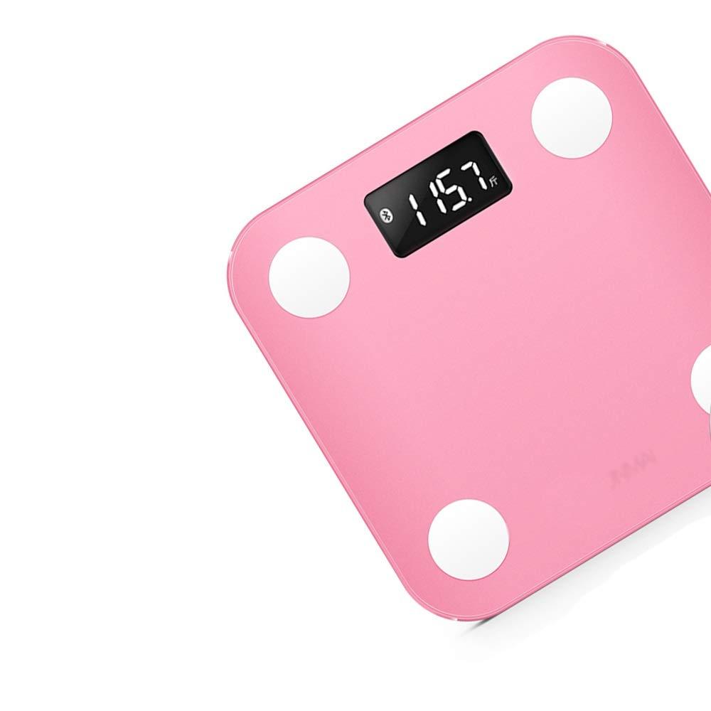 XF 体重計体脂肪計 体脂肪計 - スマートブルートゥース体重計減量スケール健康スケールポータブル家庭用小さな大人家族女性寮 測定器 (色 : Pink)  Pink B07NRS84RN