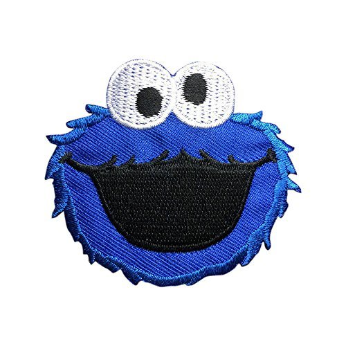 Sesame Street COOKIE MONSTER Patch Embroidered Cartoon Iron On Sew On Patches (Monster High Iron On)