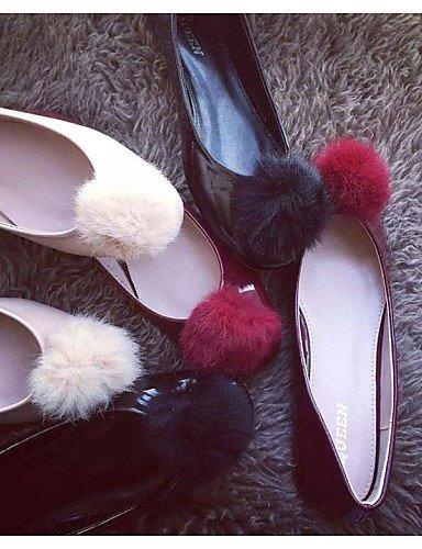 y zapatos cn40 oficina carrera 5 mujer sintética de us8 eu39 Flats 5 uk6 talón rojo almendra piel black pompón PDX negro casual de plano gv5Pxnwnq7