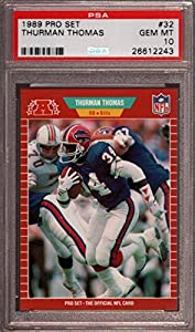 1989 Pro Set #32 Thurman Thomas Rc Bills Hof Psa 10 F2397656-243