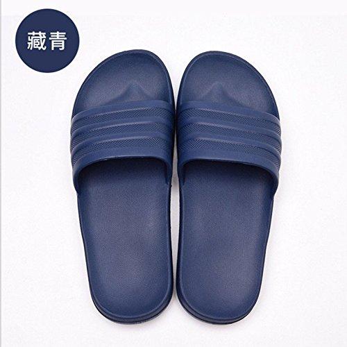 Espesor Parejas fankou Oscuro Cool Zapatillas 43 Azul Inferior Verano Suave Antideslizante Marea Zapatillas Simple Mujeres Exterior Estancia 44 Macho qrRrU6Xx