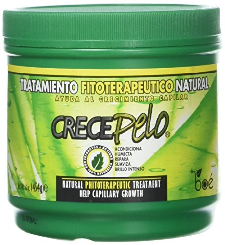 Crece Pelo Natural Phitoterapeutic Treatment for Capillary Growth 16ounces (Best Dominican Deep Conditioner)