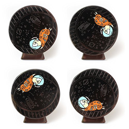 Compoco Hamster Space Animal Lapel pin Spinning 360 Astronaut Running on a Wheel (Space Hamster)
