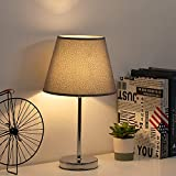 HAITRAL Modern Table Lamps - Grey Small