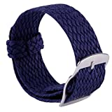 Watch Strap Braided Woven Replacement Nylon Watch Band Men Women 14mm 16mm 18mm 20mm 22mm Royal Blue