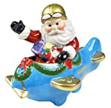 Cosmos Santa on Airplane Salt & Pepper Set