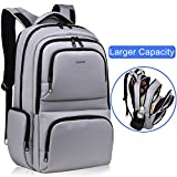 Kuprine Water Resistant Slim Business Laptop Backpacks for Men Lightweight College Computer Backpack Fits Most 15.6 Inch Laptops and Tablets Anti Theft Travel Backpack with Lock