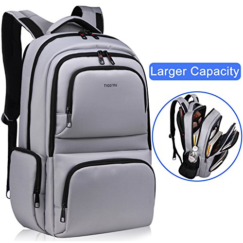Kuprine Water Resistant Slim Business Laptop Backpacks for Men Women Lightweight College Computer Backpack Fits Most 15.6 Inch Laptops and Tablets Anti Theft Travel Backpack