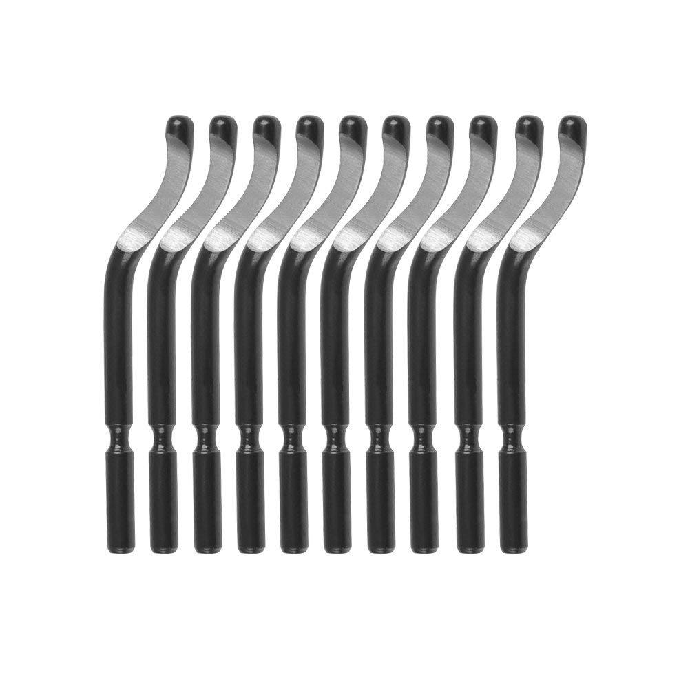 outil d/ébavurage externe avec 10 lames doutils d/ébavurage /à 360 degr/és Outil d/ébavurage pour tuyaux m/étaux et boulons en plastique