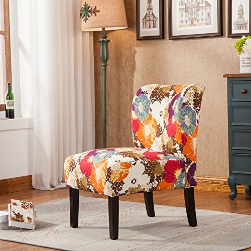 Roundhill Furniture Capa Print Fabric Armless Contemporary