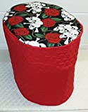Skulls & Roses Food Processor Cover (Small, Red)