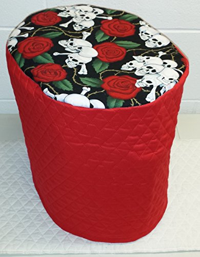 Cheap Skulls & Roses Food Processor Cover (Large, Red)
