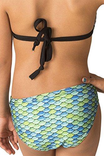 Fin Fun Mermaidens Womens Bikini Bottom, Aussie Green, Medium