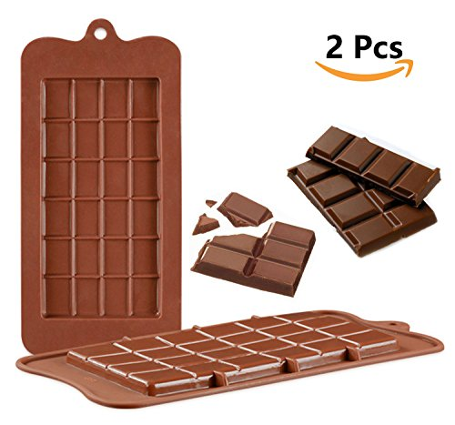 V-fox Silicone Break-Apart Chocolate, Protein and Energy Bar Molds (Set of 2) (Mold Set Chocolate)