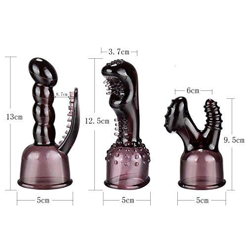 3 Stück Aufsatz für Sie Massagegerät Magic Wand Massager Klitorisstimulator Massagestab Sexspielzeug Frauen