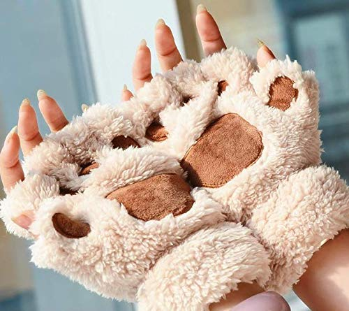 SROVFIDY Sch/ön Katzenklaue Handschuh Winter Handschuh B/ärentatze Pl/üsch Handschuh M/ädchen Warme Handschuhe F/ür Frauen