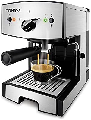 Mini Moka CM-1675 Cafetera Espreso 15 Bar / 1050 W / 1,25 L, 5.283441 cups, Acero inoxidable