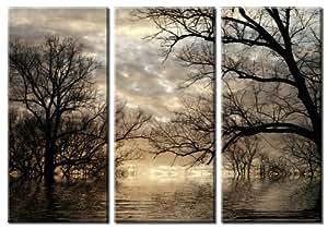 Picture Sensations Framed Huge 3-Panel Digital Landscape Art Revive Giclee Canvas Art