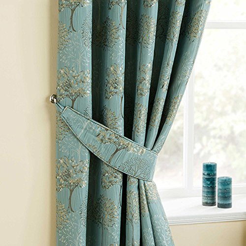 Homescapes Gardinen Raffhalter 2 Stück Blaugrün Ergänzend zu