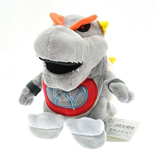 Super Mario Plush 7.2 Inch / 18cm Gray Bowser Jr Doll Stuffed Animals Figure Soft Anime Collection - Dry Bones Bowser