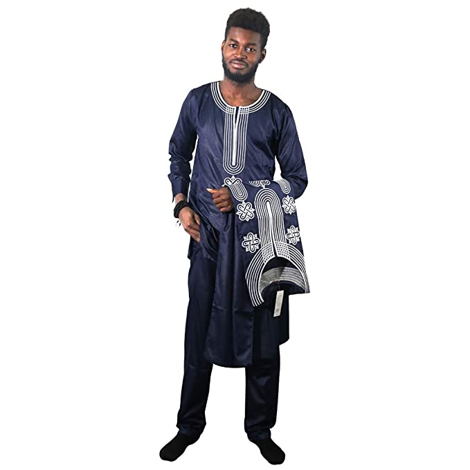 Amazon.com: HD African Apparel Agbada ropa bordada Dashiki ...